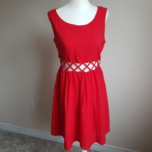 F21 Red Cocktail Dress